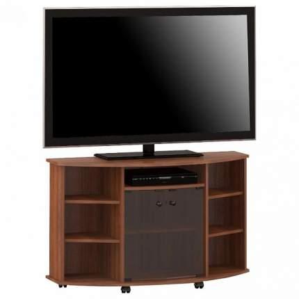 Тумба под телевизор выкатная Мебель Смоленск ТВА-06 119x45,8x75 см, орех тёмный