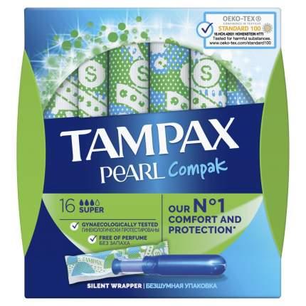 Тампоны Tampax Pearl Compak Super с аппликатором, 16 шт