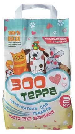 Наполнитель Zoo Terra соломенный для животных 2кг