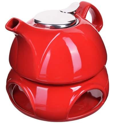 Заварочный чайник 950мл подставка-подогрев LR (х8) 28686