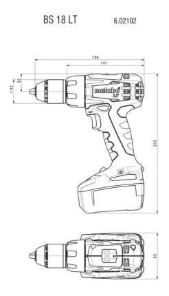 Аккумуляторная дрель-шуруповерт Metabo BS 18 LT 602102530