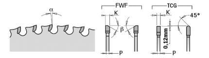 Диск пильный 305x25,4x2,2/1,8 0° 8° FWF Z=60 226.060.12