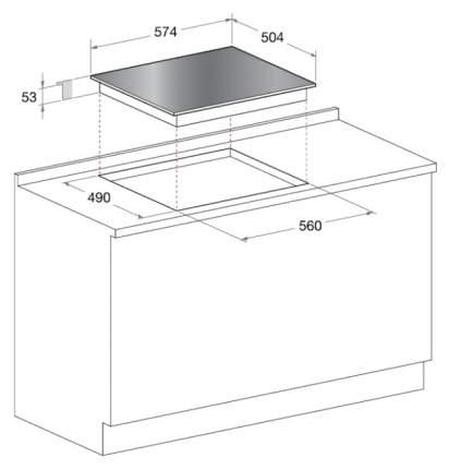 Встраиваемая варочная панель электрическая Hotpoint-Ariston KRM 640 X Black