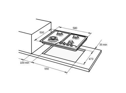Встраиваемая варочная панель газовая Delonghi IF 46/1 ASV GU Silver