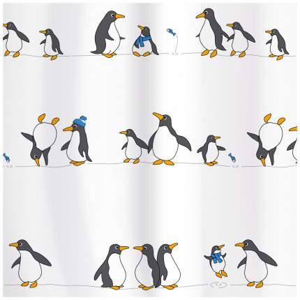 Штора для ванной Tatkraft Penguins 18198 Белый