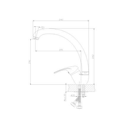 Смеситель для кухонной мойки Rossinka Silvermix A35-25 хром