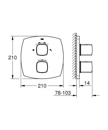 Смеситель для встраиваемой системы Grohe Grandera 19937000 серебристый