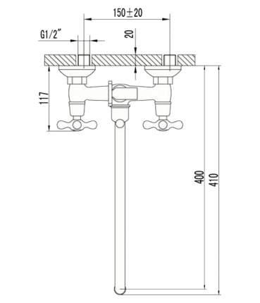 Смеситель универсальный LEMARK Standard LM2151C хром