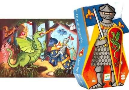 Пазл DJECO Рыцарь и дракон, 7223