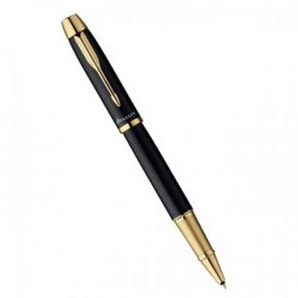 Ручка-роллер Parker IM Metal Black GT, 0,5 мм чёрная, корпус чёрный/золото