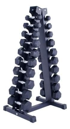 Гантельный ряд Galafit HX110 10 пар от 1 до 10 кг