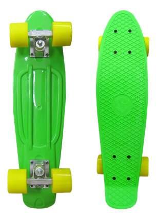 Скейтборд детский ecoBalance Зеленый с желтыми колесами