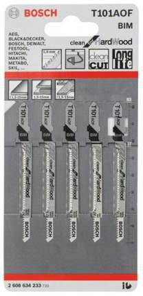Набор пилок для лобзика Bosch Т 101 AOF, BIM 2608634233