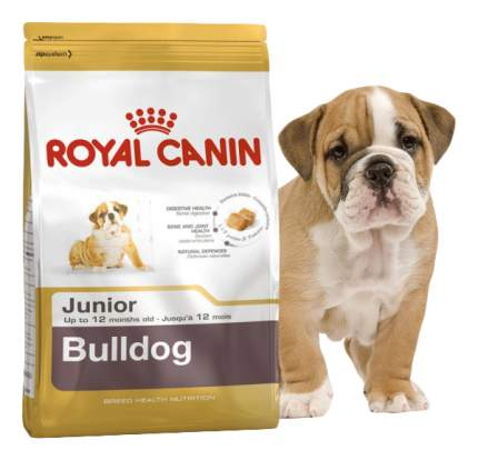 Сухой корм для щенков ROYAL CANIN Bulldog Junior, птица, 12кг