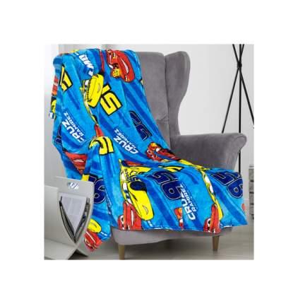 """Плед """"Павлинка"""" Дисней Тачки, 150х200, цвет синий, аэрософт 190 гм, пэ100% Павлинка"""