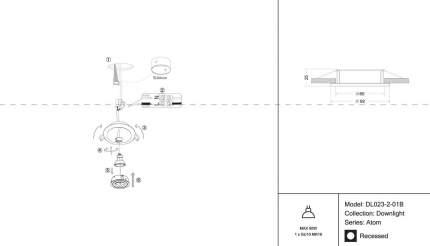 Встраиваемый светильник Maytoni Atom DL023-2-01B