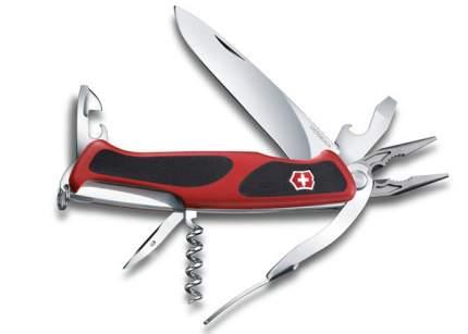 Мультитул Victorinox RangerGrip 74 0.9723.C 130 мм красный, 14 функций