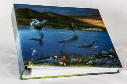 """Фотоальбом """"Дельфины"""" на 500 фото с кармашками, переплёт металлические кольца"""