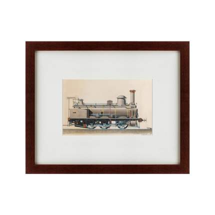 Литография Locomotive, 1888, 42х52см, Картины в Квартиру