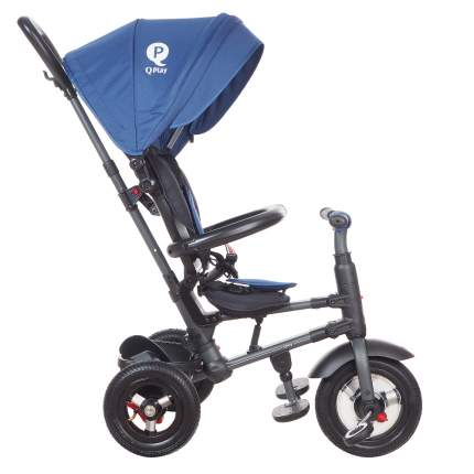 Трехколесный складной велосипед Q-PLAY синий QA6J