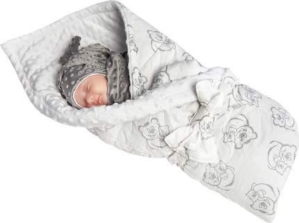 Конверт-одеяло SlingMe Мишутка белый