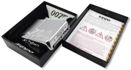 Зажигалка Zippo James Bond 007 Armor Carved High Polish Chrome