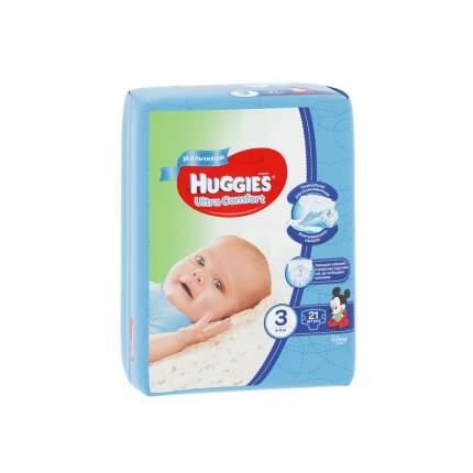 Подгузники Huggies Ultra Comfort для мальчиков 3 (5-9 кг), 21 шт.