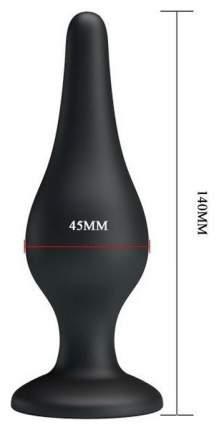 Анальная пробка на присоске среднего размера Sensitive Prostate Plug 14 см