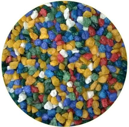 Грунт для аквариума ЭКОГРУНТ  Цветная мраморная крошка синяя блестящая 2 - 5 мм 1кг