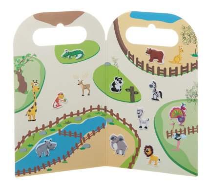 Набор наклеек нано-стикер в зоопарке мал., Bondibon 12x20,5 см