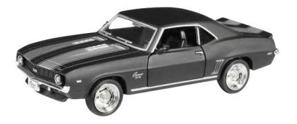 Машина металлическая Uni-Fortune 1:32 Chevrolet Camaro 1969 инерционная серый матовый