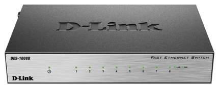 Коммутатор D-Link DES-1008D/L2A/L2B Черный