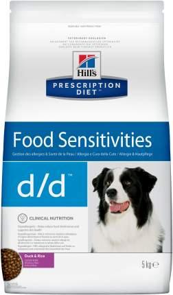 Сухой корм для собак Hill's Prescription Diet d/d Food Sensitivities, утка, 5кг