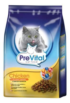 Сухой корм для кошек PreVital, курица и овощи, 1,8кг