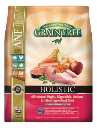 Сухой корм для кошек ANF Holistic Grain Free, беззерновой, курица, 1кг