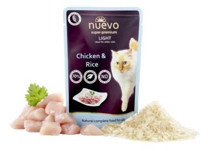 Влажный корм для кошек nuevo light, курица, рис, 16шт по 85г