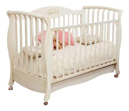 Кровать Красная звезда Елизавета Бабочки слоновая кость