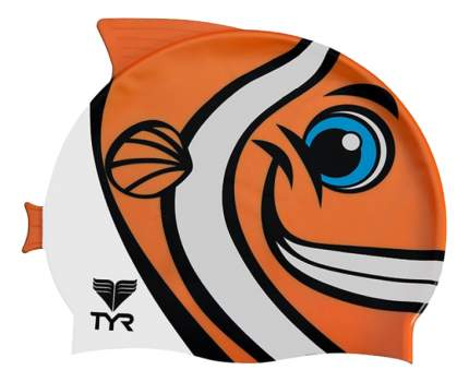 Шапочка для плавания TYR Happy Fish Cap 810 orange