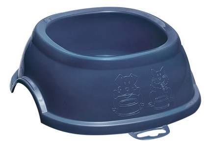Одинарная миска для собак Stefanplast, пластик, коричневый, 0.6 л