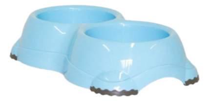 Двойная миска для кошек и собак MODERNA, пластик, голубой, 2 шт по 0.645 л