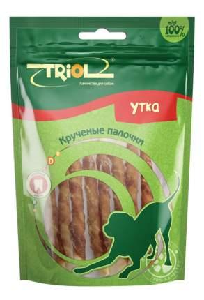Лакомство для собак Triol, крученые палочки с уткой, 70г