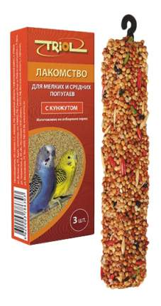 Лакомства для птиц Triol для мелких и средних попугаев, с кунжутом, КФ-17600, 3 в 1