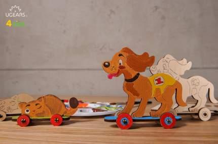 Конструктор-раскраска UGEARS Котёнок и щенок
