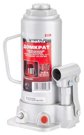 Домкрат гидравлический бутылочный Matrix 50725 10 т высота подъема 230–460 мм