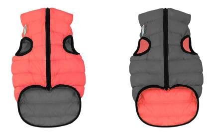 Куртка для собак AiryVest размер XS унисекс, красный, серый, длина спины 25 см