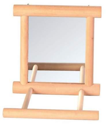 Зеркало для птиц Trixie с жердочкой 9х9 см деревянное