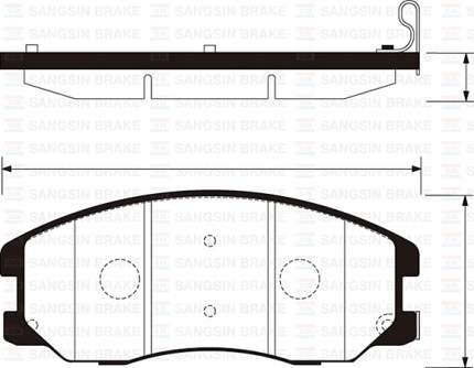 Колодки тормозные SANGSIN SP1204