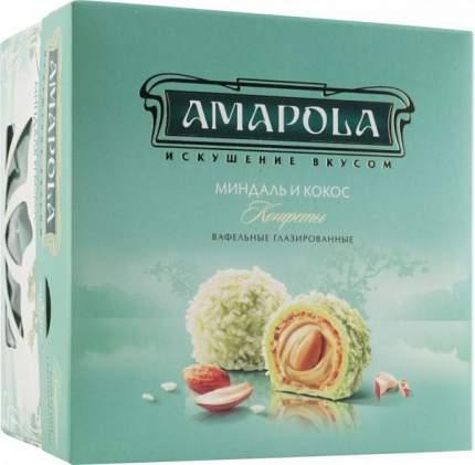 Конфеты вафельные глазированные Amapola миндаль и кокос 100 г