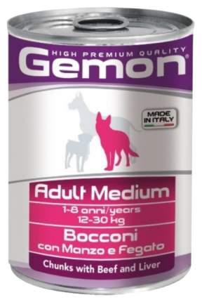 Консервы для собак Gemon Medium, говядина, печень, 415г