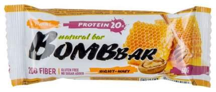 Протеиновый батончик Bombbar Protein Bar 60 г грецкий орех с медом